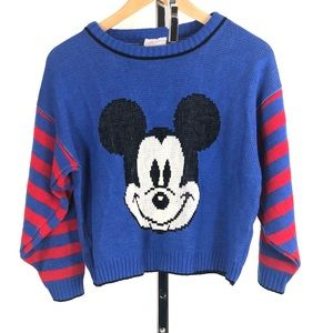 Vintage Mikey Mouse sweater 💙❤️